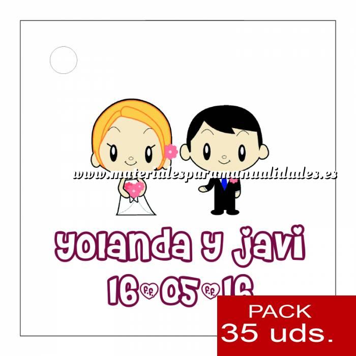 Imagen Etiquetas personalizadas Etiqueta Modelo C11 (Paquete de 35 etiquetas 4x4)