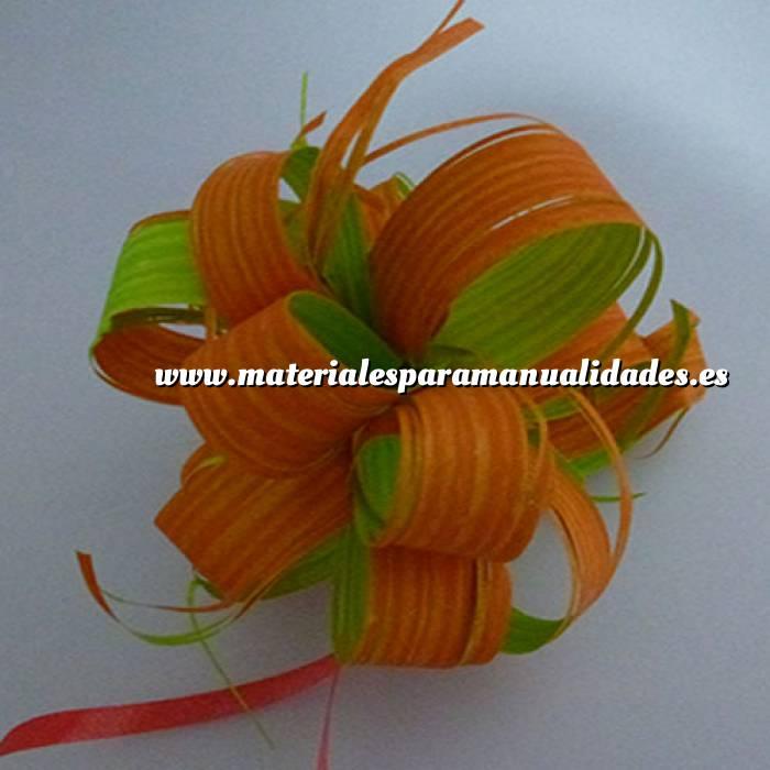 Imagen Lazos Flor-Lazo Decoración Mod 16 - NARANJA/VERDE- 5 Uds (Últimas Unidades)