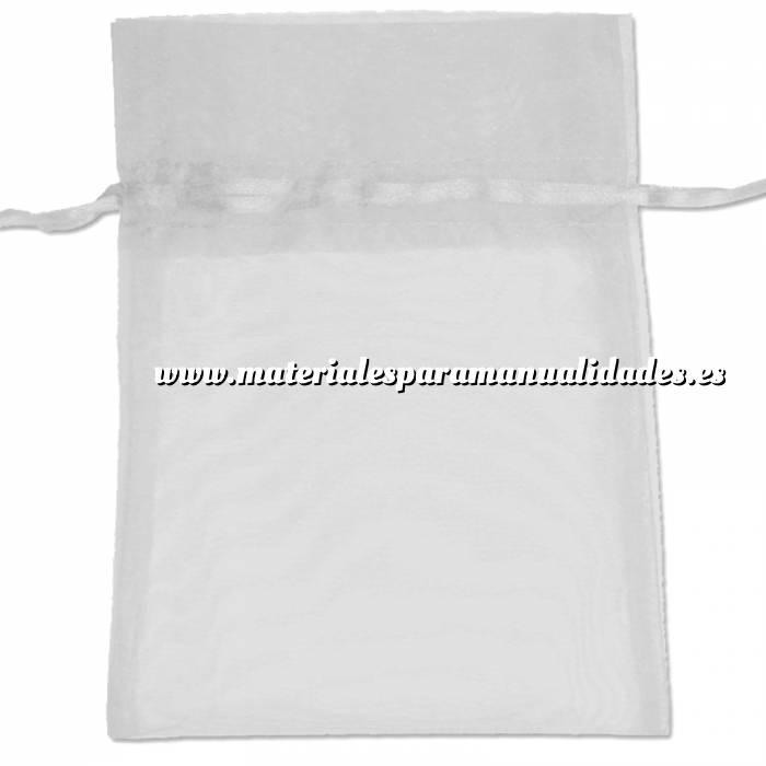 Imagen Tamaño 22x32 cms. Bolsa de organza Blanca 22x32 capacidad 21x30 cms.