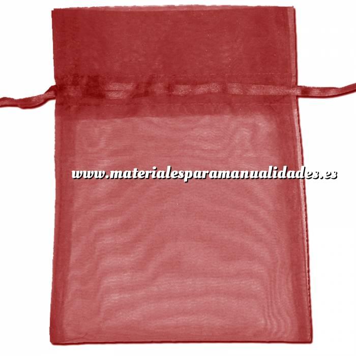 Imagen Tamaño 22x32 cms. Bolsa de organza Burdeos 22x32 capacidad 21x30 cms.