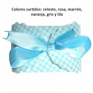 Cajitas para regalo - Cajita Automontable cuadros rectangular - Colores surtidos