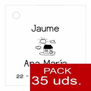Etiquetas personalizadas - Etiqueta Modelo D03 (Paquete de 35 etiquetas 4x4)