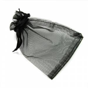 Imagen Tamaño 15.5x24 cms. Bolsa de organza Negra 15,5x24 capacidad 15x20 cms.