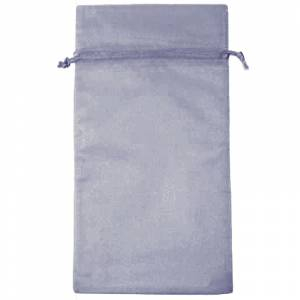 Tamaño 15x36 cms. - Bolsa de organza Gris Plata 15x36 capacidad 15x31 cms.