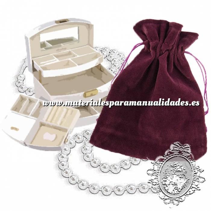 Imagen Bolsa de Antelina 11x15 Bolsa de Antelina Burdeos 11x15 capacidad 11x13 cms