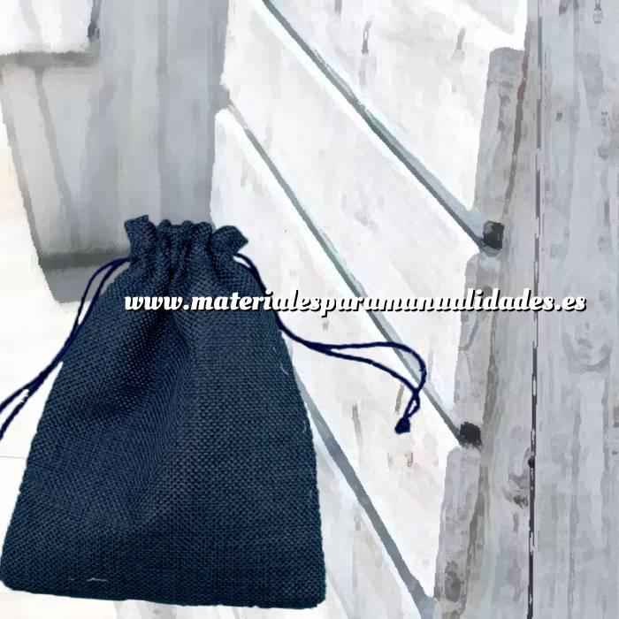 Imagen Bolsas de Yute 10x14 cm Bolsa de Yute Azul Marino 10x14 capacidad 9x11 cms.