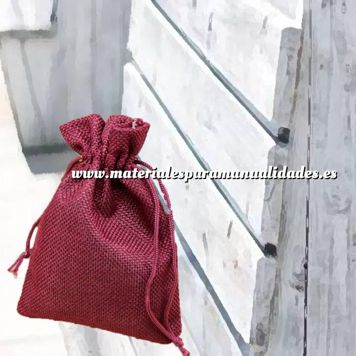 Imagen Bolsas de Yute 10x14 cm Bolsa de Yute Burdeos 10x14 capacidad 9x11 cms.