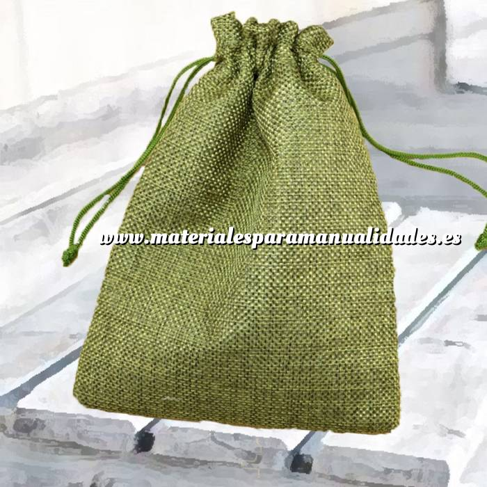 Imagen Bolsas de Yute 13x18 cm Bolsa de Yute Verde Pistacho (Claro ó Clorofila) 13x18 capacidad 12x15 cms.