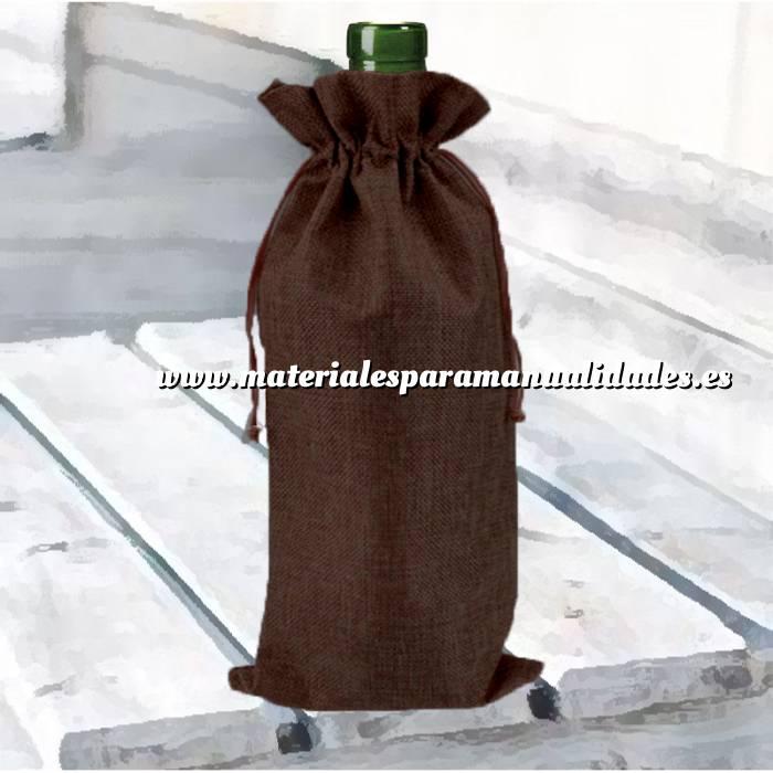 Imagen Bolsas de Yute 16x36 cm Bolsa de Yute Marrón Chocolate 16x36 capacidad 15x31 cms.
