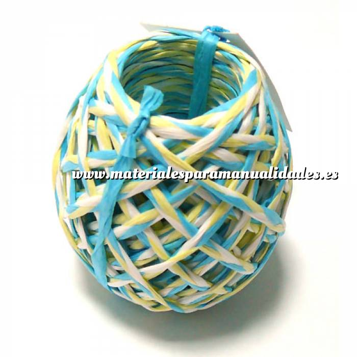 Imagen Cintas Decorativas Rafia Trenzada Azul 15 m (3 mm)
