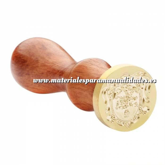 Imagen Diseños inmediatos Sello lacre mango largo - SIMBOLOS - Escudo Mod.1 (Últimas Unidades)