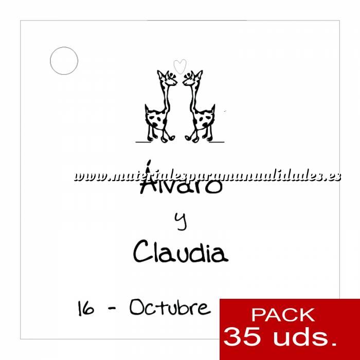 Imagen Etiquetas impresas Etiqueta Modelo B02 (Paquete de 35 etiquetas 4x4)