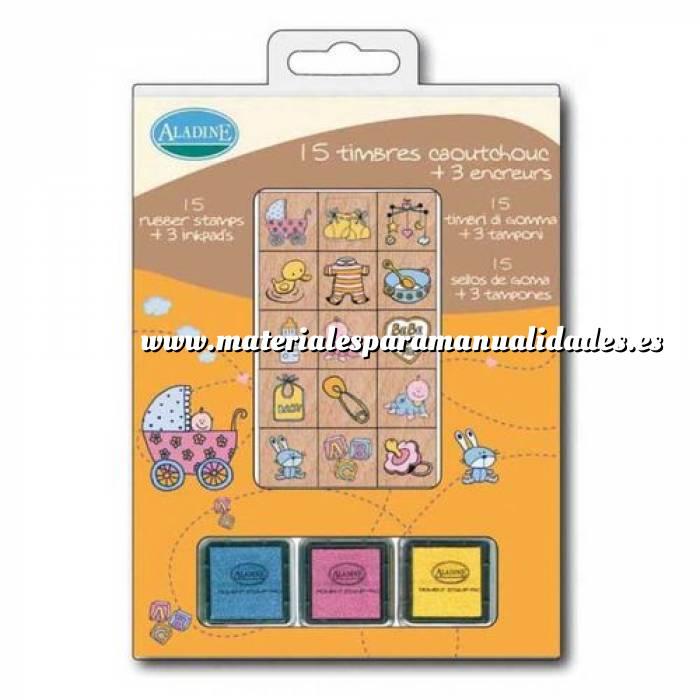 Imagen Kits 15 sellos Sellos bautizo. Incluye 15 diseños y 3 tampones (Últimas Unidades)