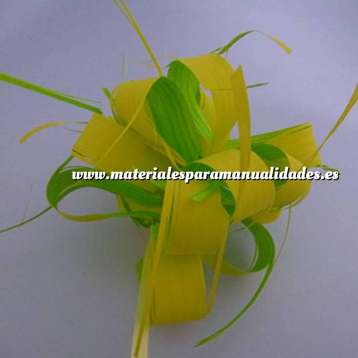 Imagen Lazos Flor-Lazo Decoración Mod 18 - VERDE/AMARILLO- 5 Uds