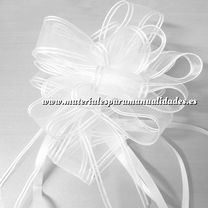 Imagen Lazos Flor-Lazo Decoración Mod 24 (BLANCO)