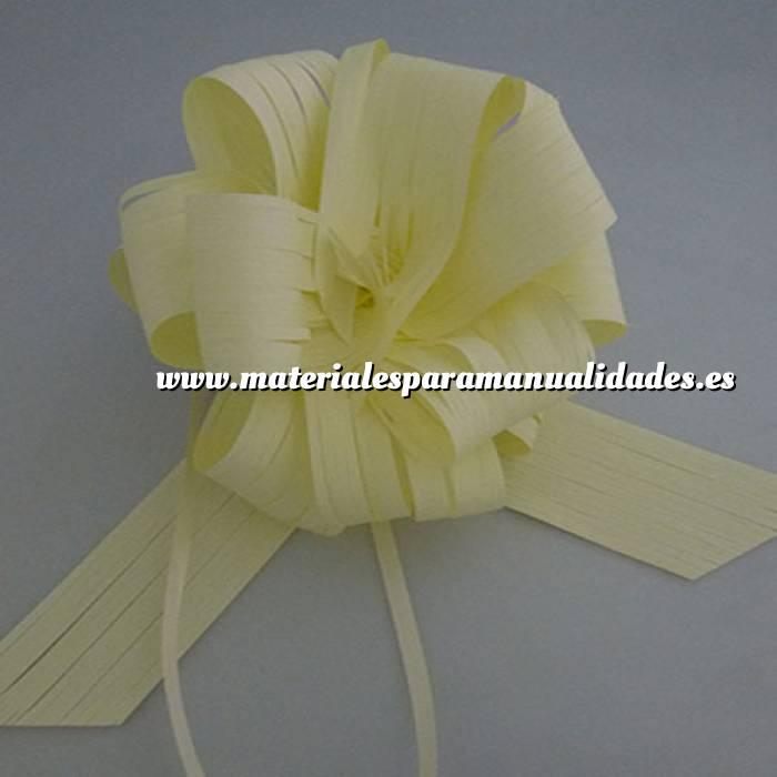 Imagen Lazos Flor-Lazo Decoración Mod 27 RAFIA CREMA