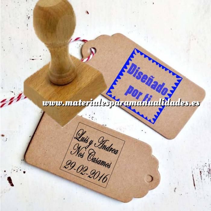 Imagen Sello CUADRADO Sello de Caucho CUADRADO 3x3 cm - Personalizado con tu diseño