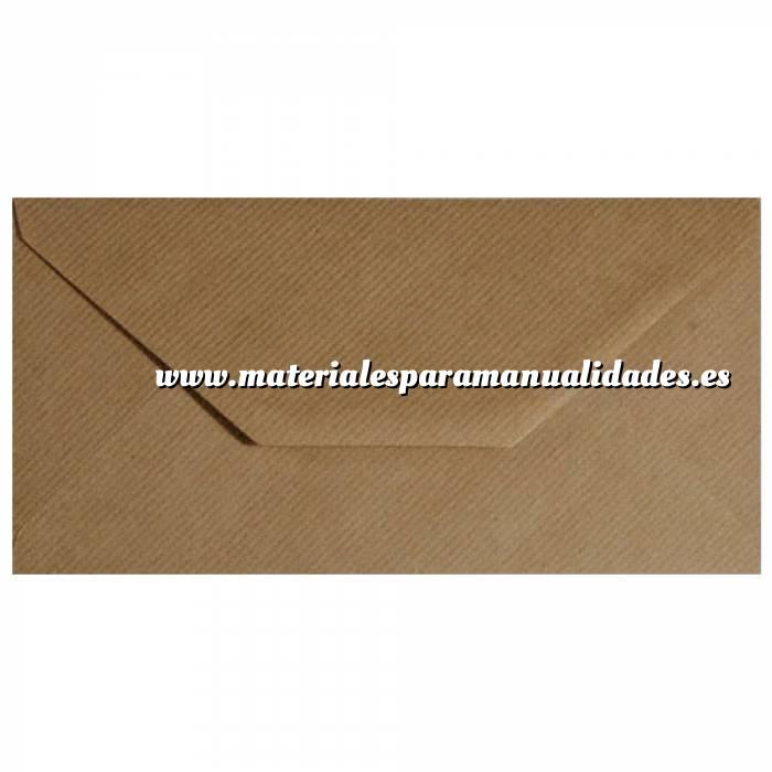 Imagen Sobre Americano DL 110x220 Sobre Marrón Kraft Acanalado DL