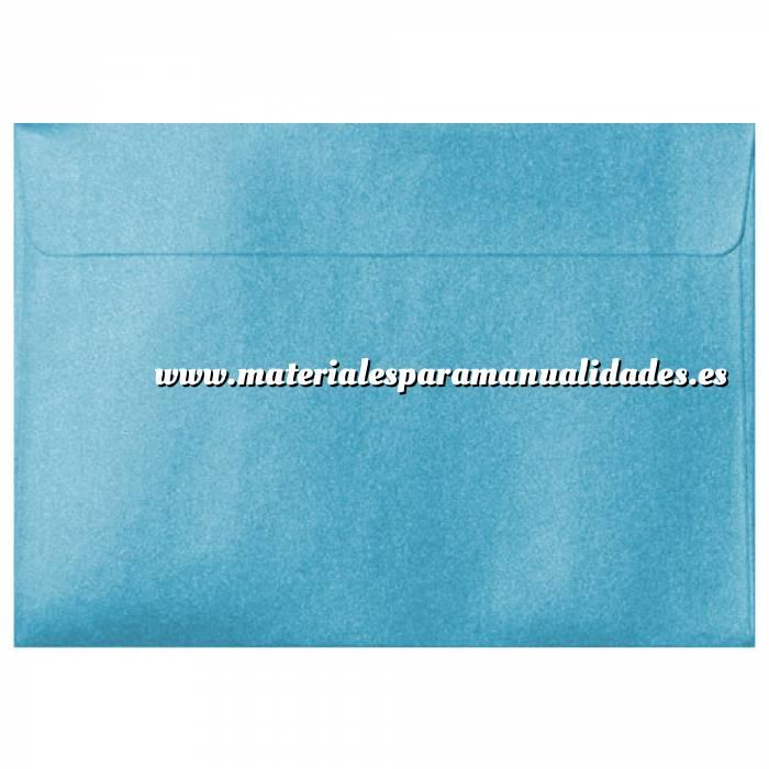 Imagen Sobres C5 - 160x220 Sobre Perlado celeste c5 (Azul Bebé)