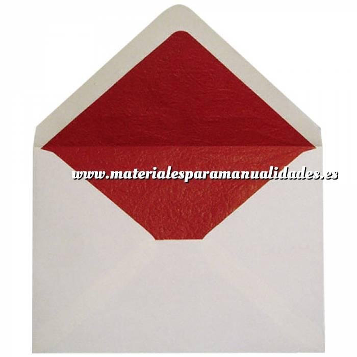 Imagen Sobres Forrados Sobre Beige c5 forro fantasía rojo