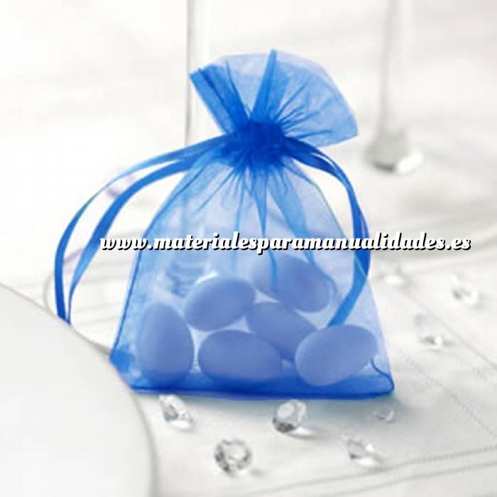 Imagen Tamaño 07x09 cms Bolsa de organza Marino 7x9 - capacidad 7x7.5 cms.