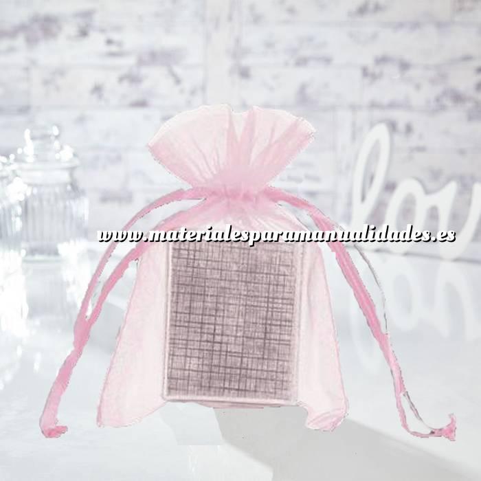 Imagen Tamaño 12x14 cms. Bolsa de organza Rosa 12x14 capacidad 11x11 cms.
