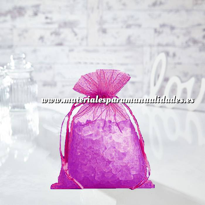 Imagen Tamaño 14x17 cms. Bolsa de organza PÚRPURA 14x17 capacidad 13x13 cms.