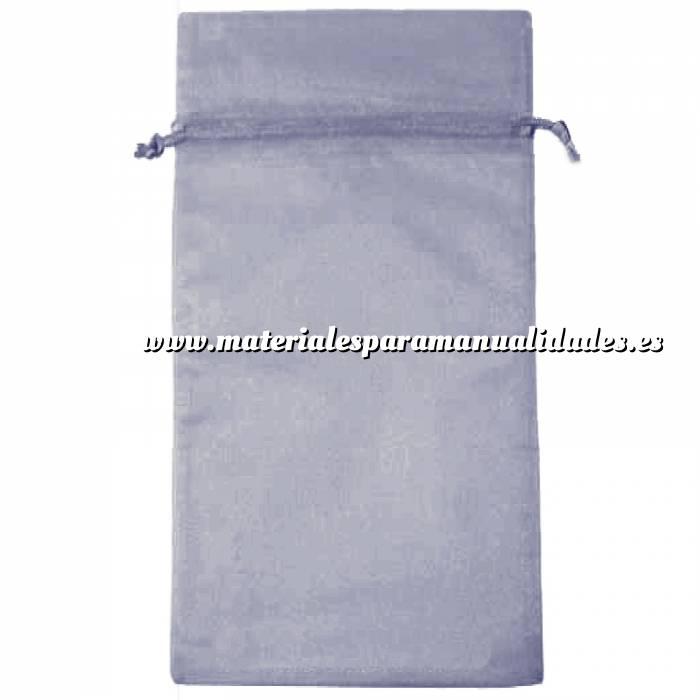 Imagen Tamaño 15x36 cms. Bolsa de organza Gris Plata 15x36 capacidad 15x31 cms.