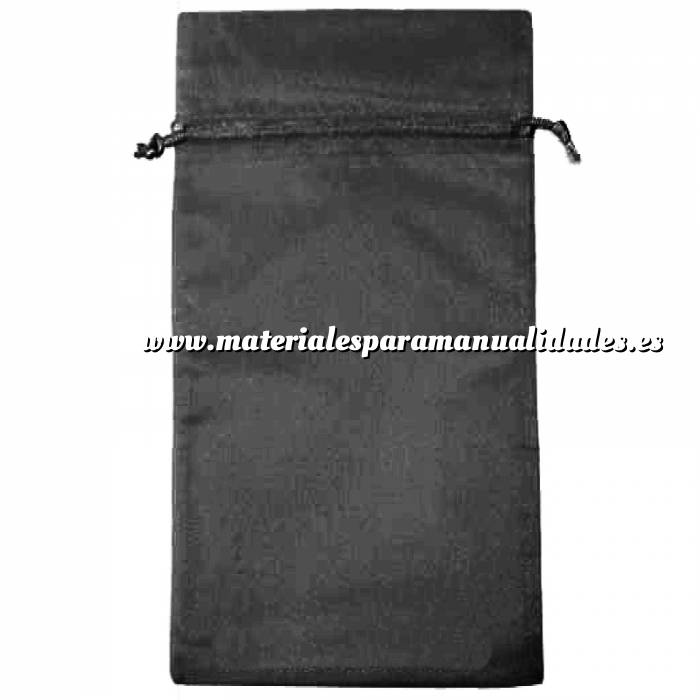 Imagen Tamaño 15x36 cms. Bolsa de organza Negra 15x36 capacidad 15x31 cms.
