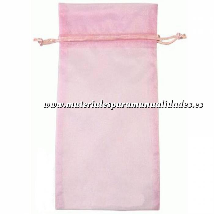 Imagen Tamaño 15x36 cms. Bolsa de organza Rosa 15x36 capacidad 15x31 cms.