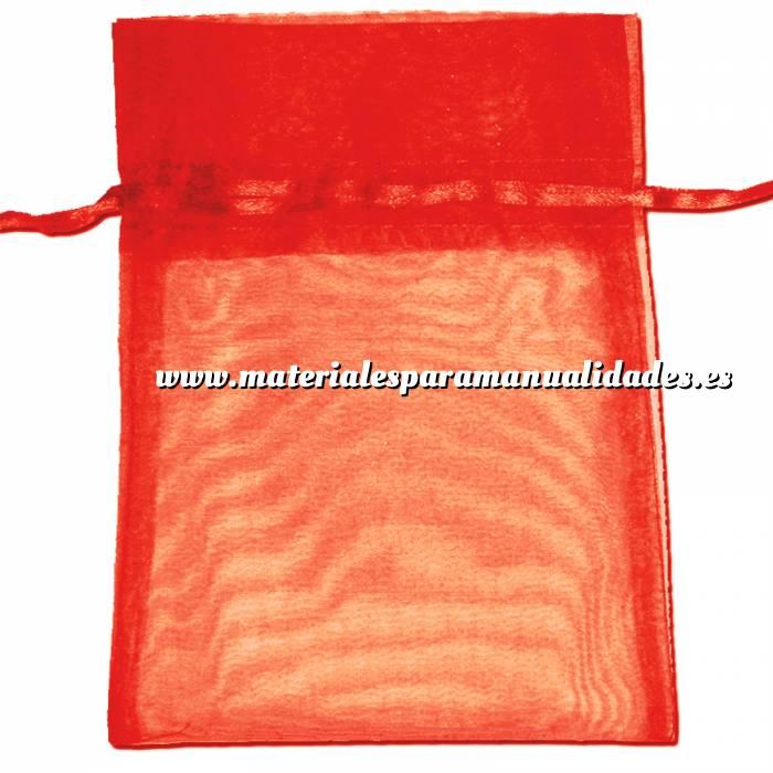 Imagen Tamaño 22x32 cms. Bolsa de organza Roja 22x32 capacidad 21x30 cms.