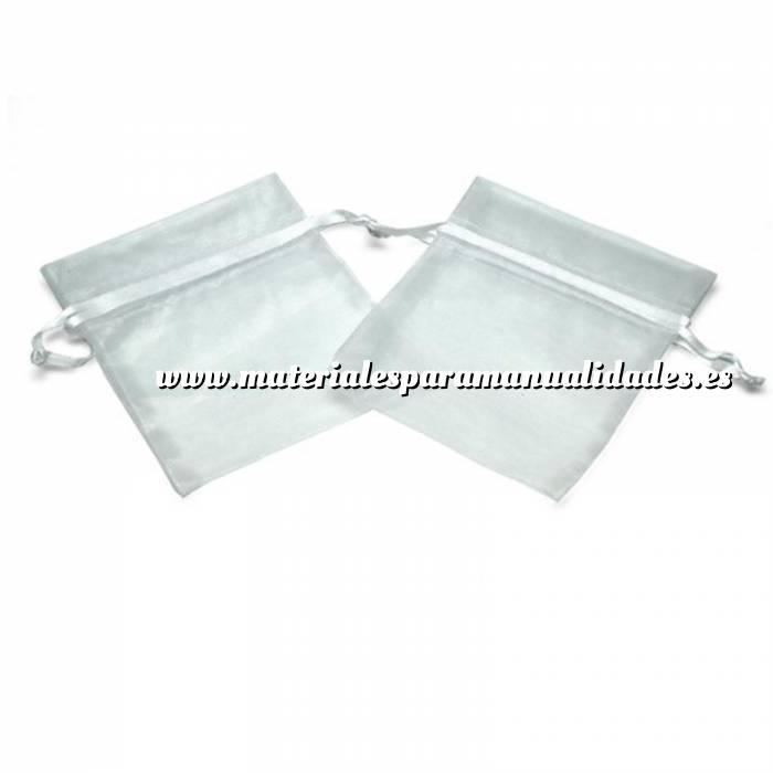 6031e6472 Bolsa de organza Blanca 15,5x24 capacidad 15x20 cms ...