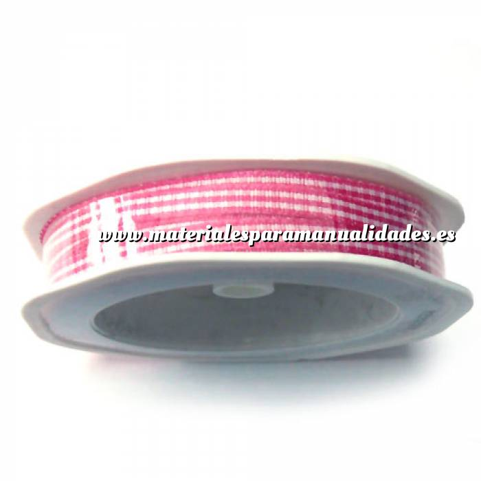 materiales_manualidades: Cinta decorativa Cuadros Rosa 20 m (5 mm)