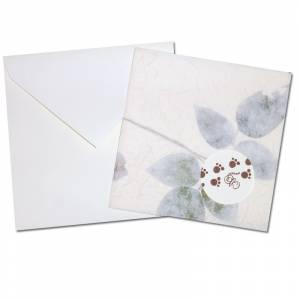 Bautizos - Recordatorio bautizo cuadrada flores huellas (�ltimas Unidades)