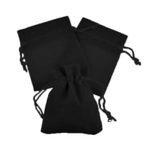 Imagen Bolsa de Antelina 7x9 Bolsa de Antelina Negra 7x9 capacidad 7x7 cms