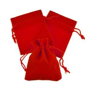 Imagen Bolsa de Antelina 7x9 Bolsa de Antelina Roja 7x9 capacidad 7x7 cms