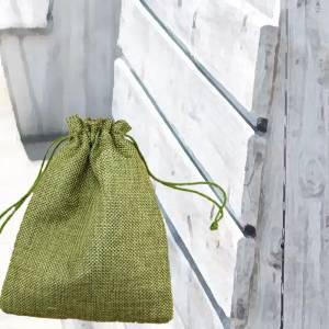 Bolsas de Yute 10x14 cm - Bolsa de Yute Verde Pistacho (Claro ó Clorofila) 10x14 capacidad 9x11 cms.