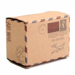 Imagen Cajitas para regalo Cajita Boda viajeros - Postal antigua con cuerda incluida