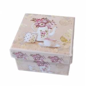 Cajitas para regalo - Cajita rosa vintage 7 x 7 x 4.5 MODELOS SURTIDOS