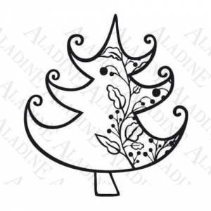 Diseños inmediatos - Sello de Caucho - Árbol con guirnalda (01351) (Últimas Unidades)