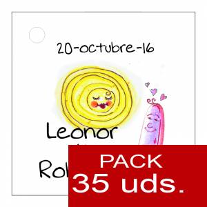 Etiquetas impresas - Etiqueta Modelo A16 (Paquete de 35 etiquetas 4x4)