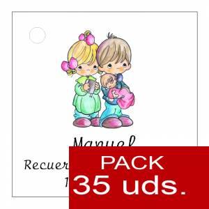 Etiquetas impresas - Etiqueta Modelo A27 (Paquete de 35 etiquetas 4x4)