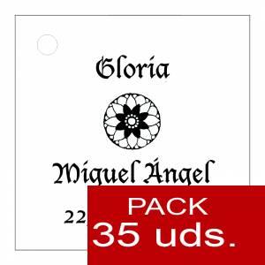 Etiquetas impresas - Etiqueta Modelo D11 (Paquete de 35 etiquetas 4x4)