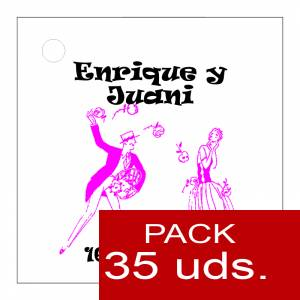 Etiquetas impresas - Etiqueta Modelo E11 (Paquete de 35 etiquetas 4x4)