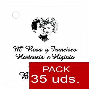 Etiquetas impresas - Etiqueta Modelo F01 (Paquete de 35 etiquetas 4x4)