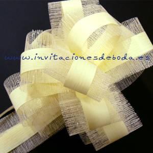 Lazos - Flor-Lazo Decoraci�n Mod 06 (CREMA)