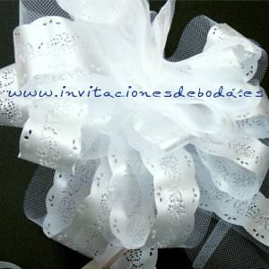 Lazos - Flor-Lazo Decoración Mod 07 (BLANCO) (Últimas Unidades)