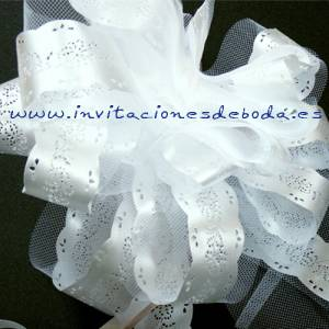Lazos - Flor-Lazo Decoraci�n Mod 07 (BLANCO) (�ltimas Unidades)
