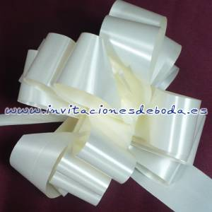 Lazos - Flor-Lazo Decoración Mod 11 (CREMA)