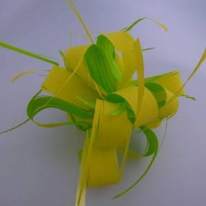 Lazos - Flor-Lazo Decoración Mod 18 - VERDE/AMARILLO- 5 Uds